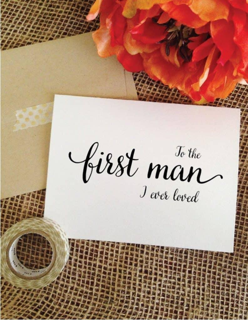 Wedding Day Card To Dad