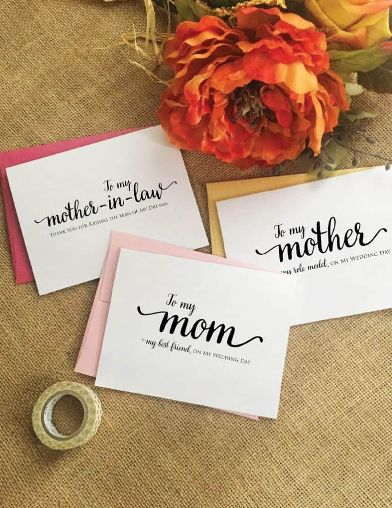 mother of bride gift:Wedding Card Mother Of The Bride