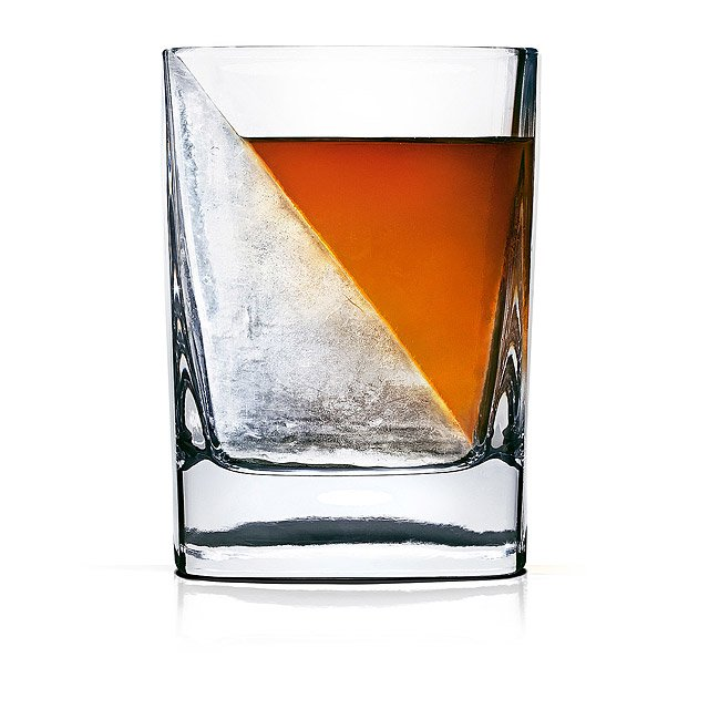 grooms wedding gifts:Whiskey Wedge and Glass