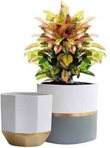 gift for mother of brideWhite Ceramic Flower Pot Garden Planters