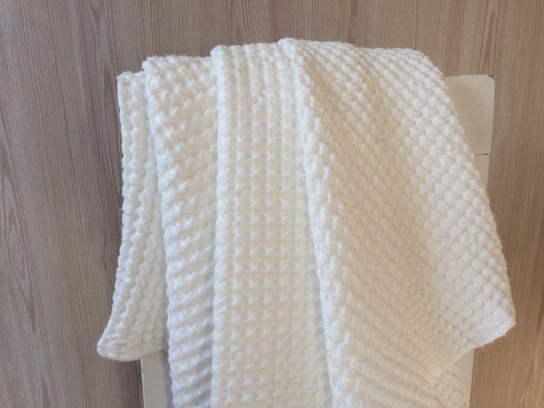 add to registry:White waffle bath towel