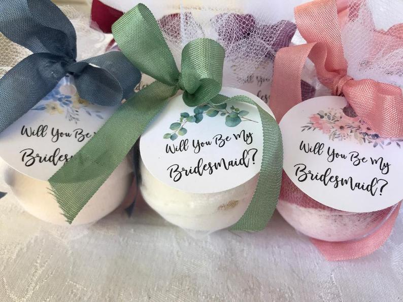 Will You Be My Bridesmaid Bath Bombs