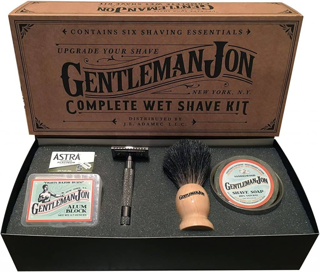 bachelor party gifts - wet shave kit
