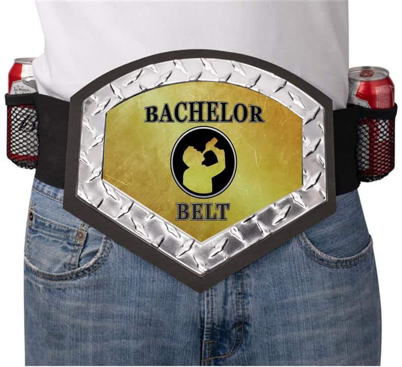 beer belt gag gift for groom to be