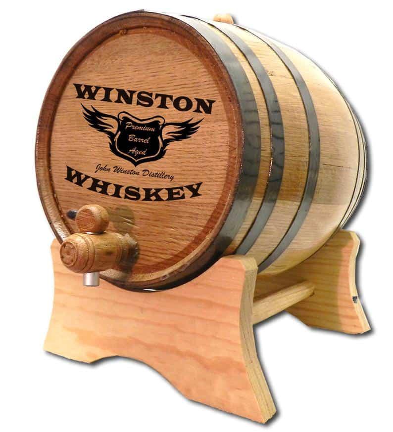 best man ideas - whiskey barrel