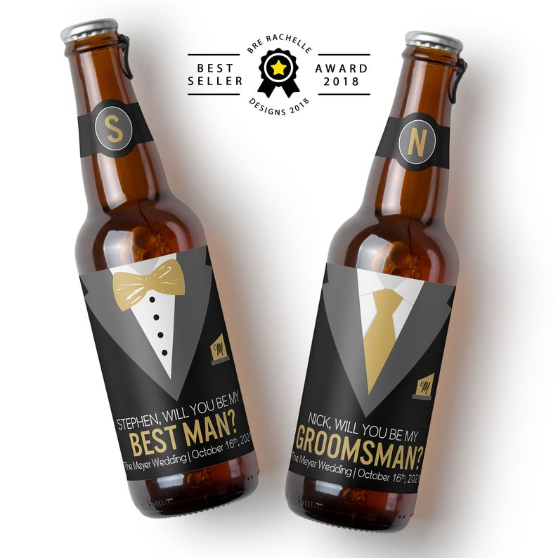 best man gift ideas - tuxedo label