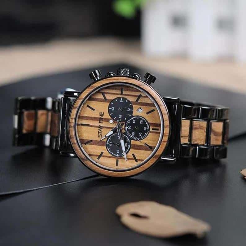 unique best man gifts - wooden watch