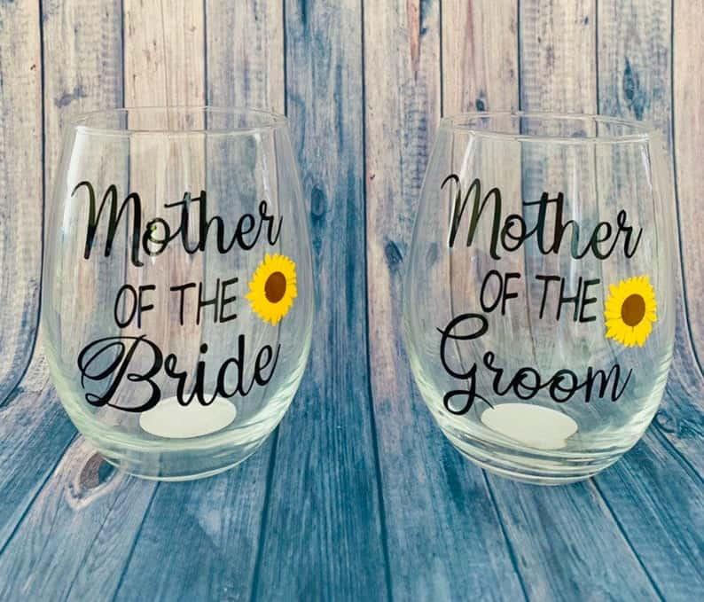 Brides Mom Glass