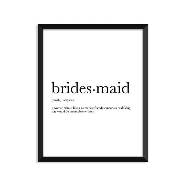 wedding party gift ideas - bridesmaid definition