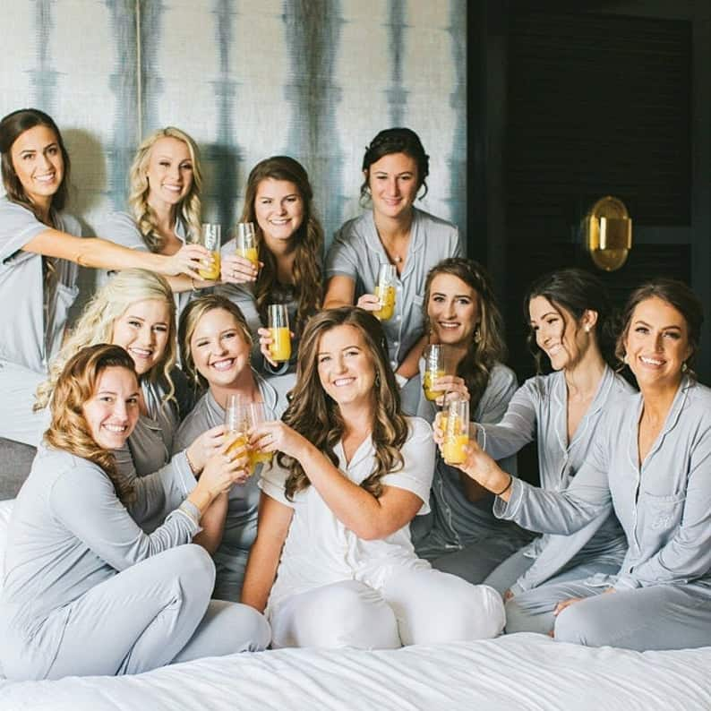 bridesmaid gift ideas - pajamas