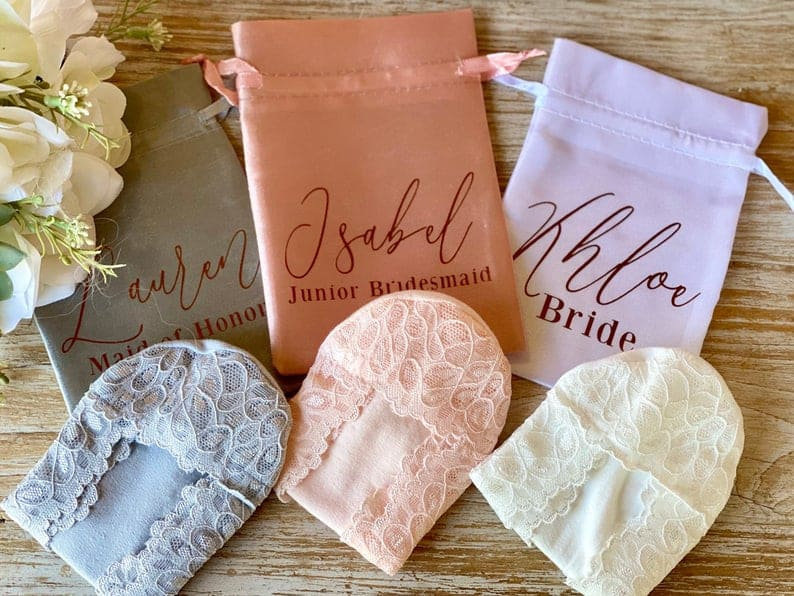 practical bridesmaid gifts - lace footies