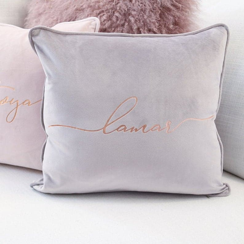 bridesmaid gift ideas - pillow cover