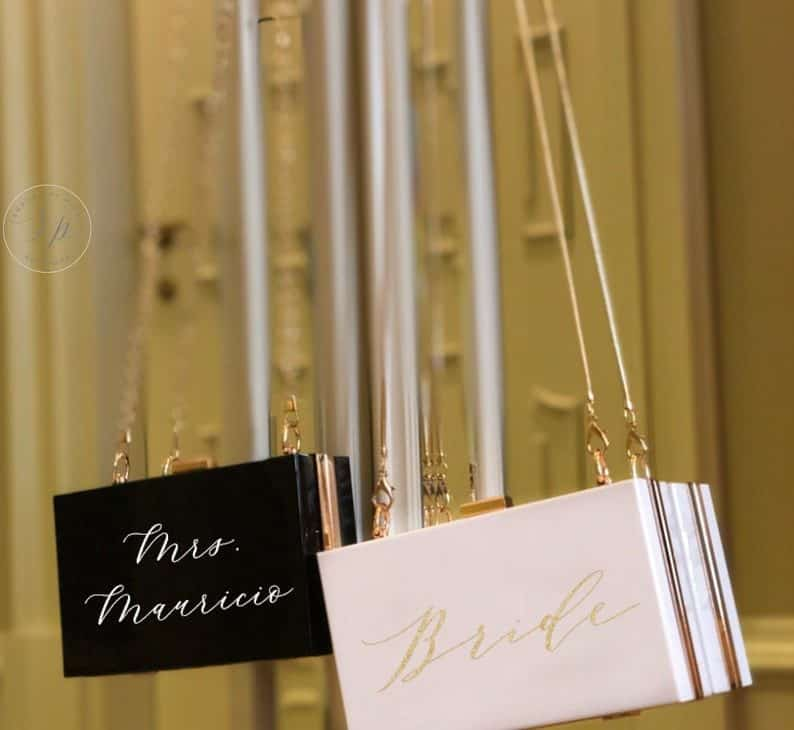 Personalized Acrylic Clutch - bridesmaid gifts