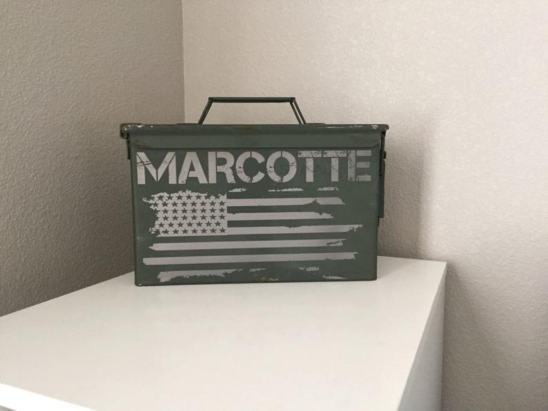 grooms parents gifts - personalized ammo box can