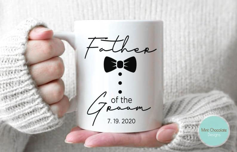 father of the groom gifts - custom mug