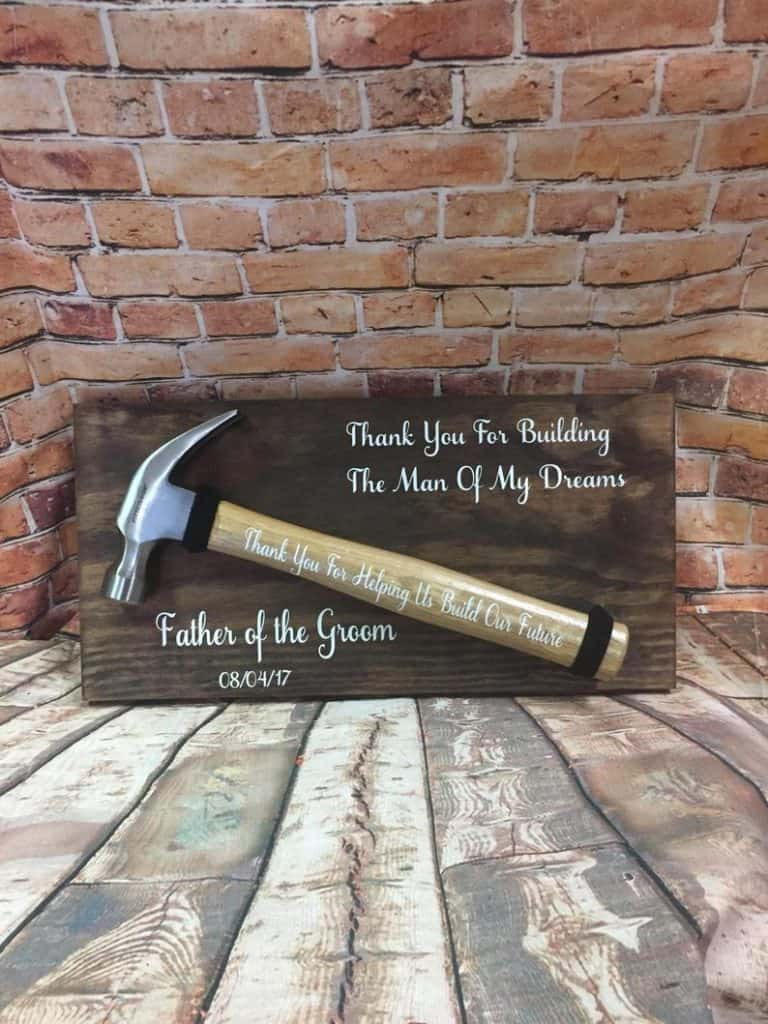 Father of the groom gifts - wedding sign