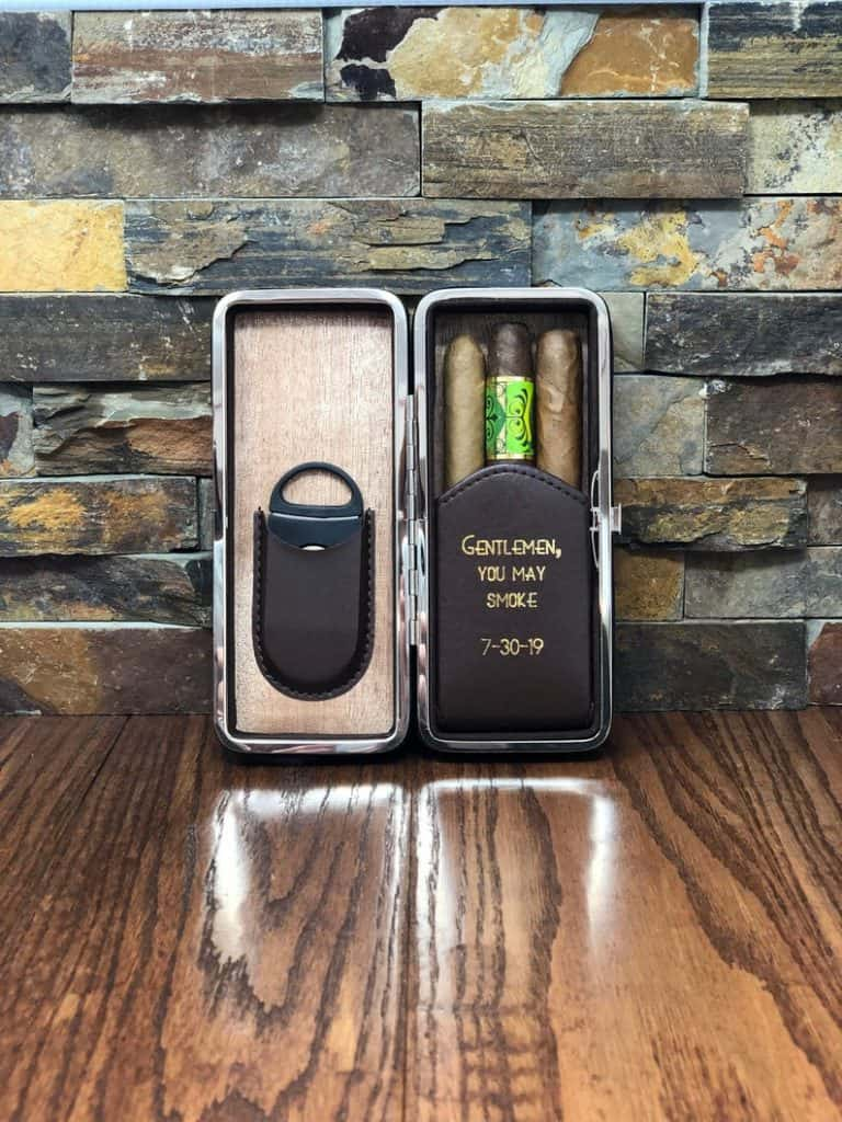 Father of the groom gifts - cigar case