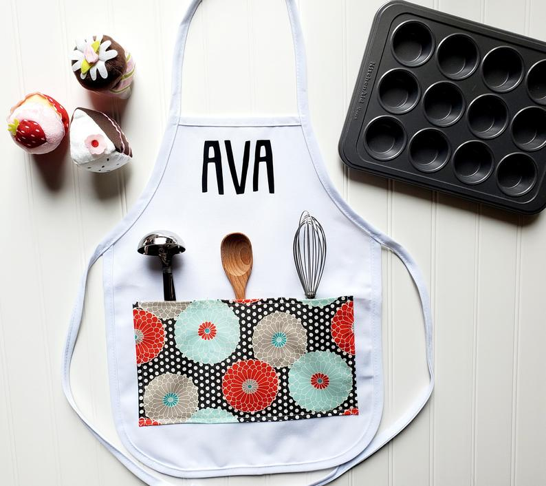 personalized flower girl gift - aprons
