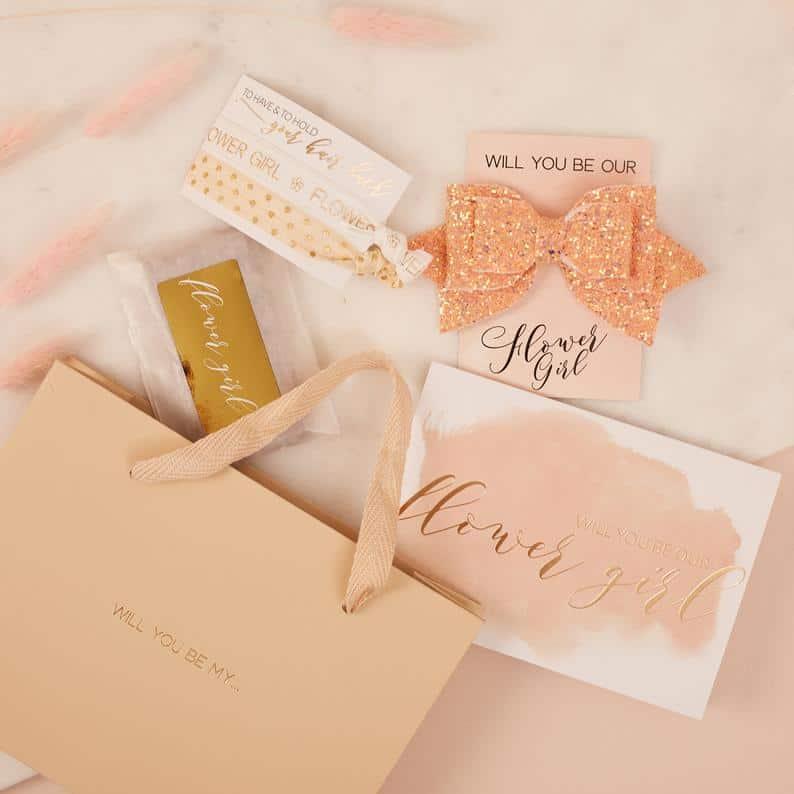 gift bag set - flower girl gifts