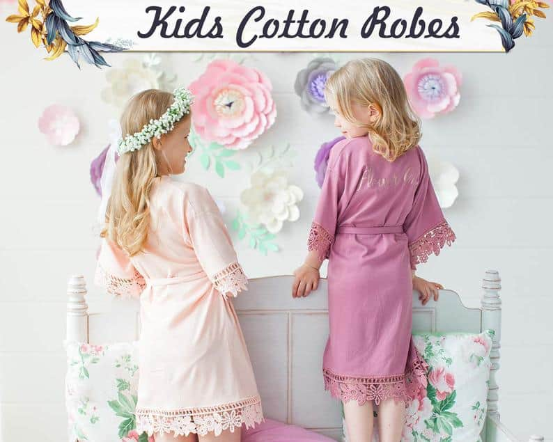 flower girl gifts - wedding robes for kids