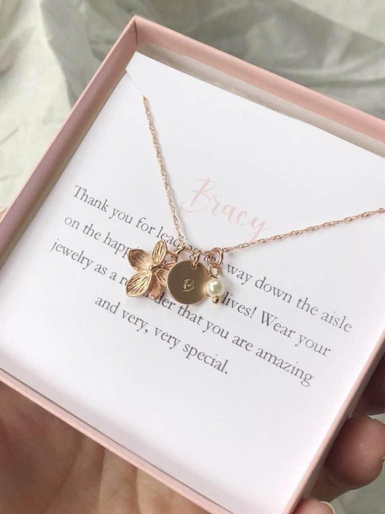 flower girl necklace rose