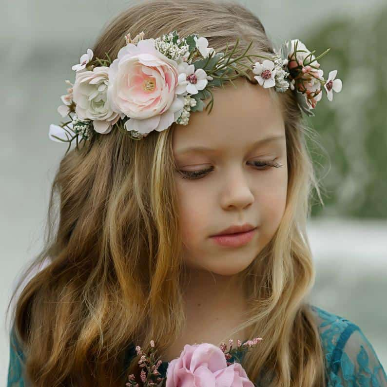 flower girl gift ideas - flower brown