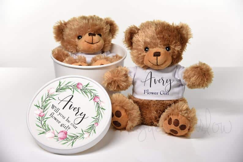 flower girl gifts - teddy bear