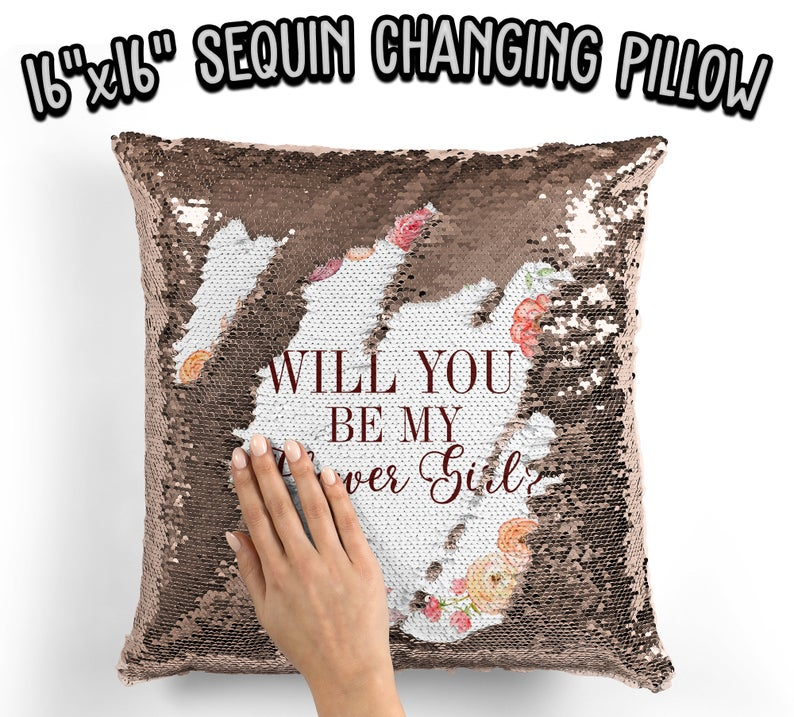 baby flower girls - pillow