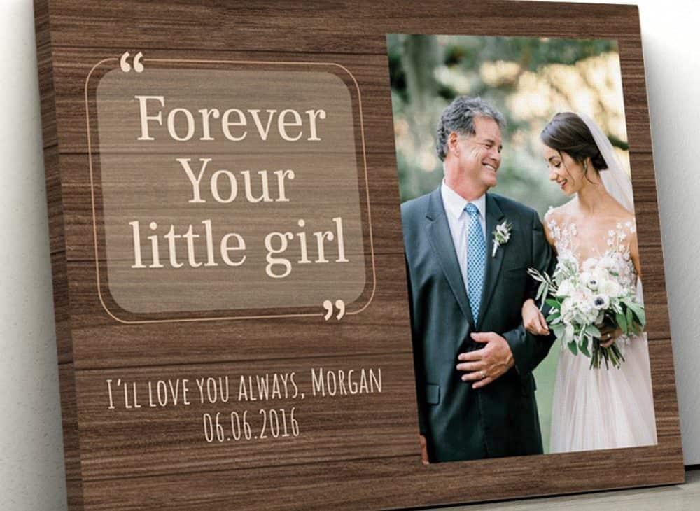 Forever Your Little Girl Custom Photo Canvas