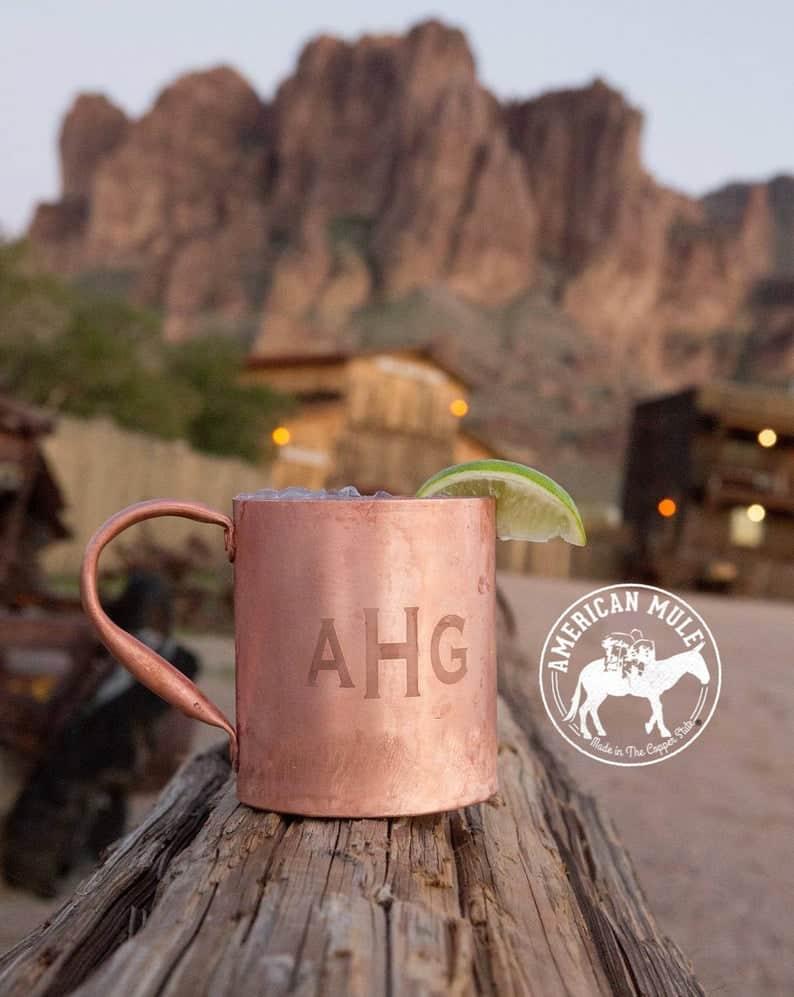 cool groomsmen gifts - copper mug