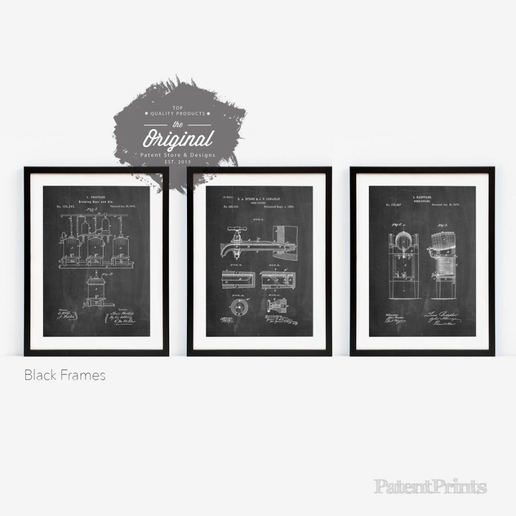 groomsmen gifts - posters group of 3 bar art
