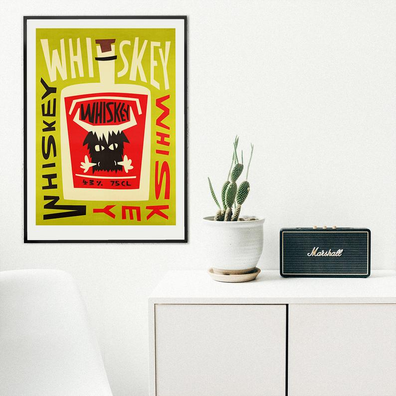 groomsmen gift ideas - whiskey print