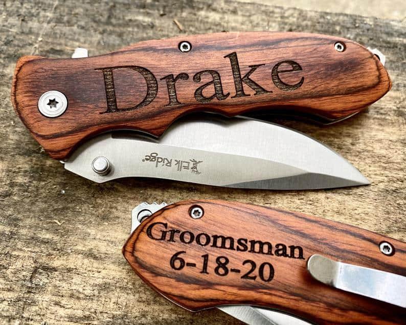 Pocket Knife: practical groomsmen gifts - pocket knife
