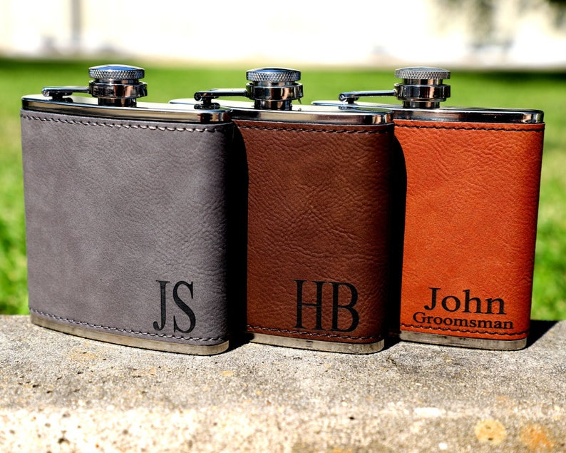 groomsmen gift ideas - hip flask