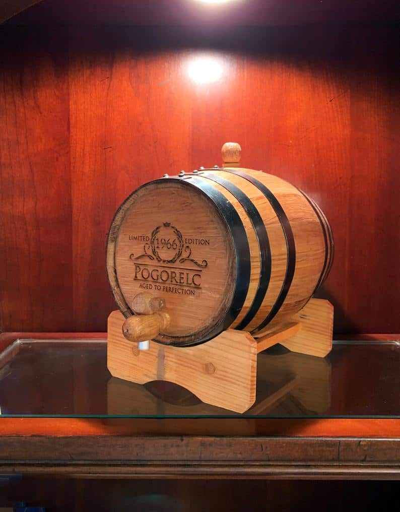 gifts for groomsmen - whiskey barrel