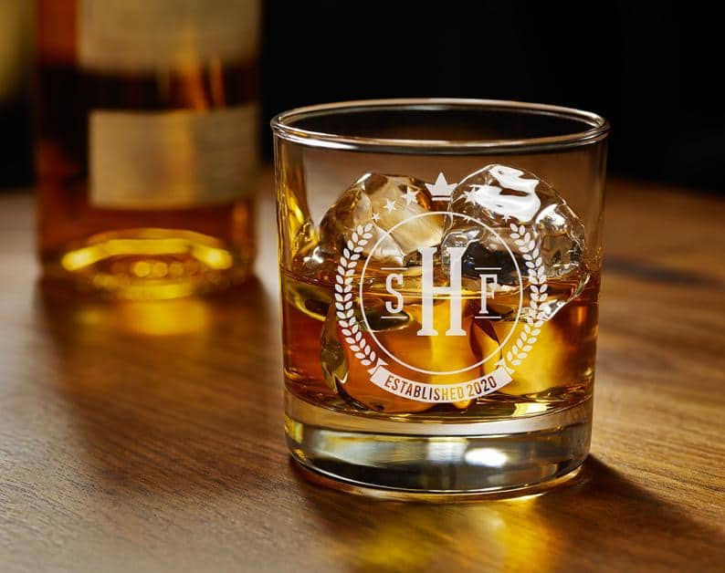groomsmen gift ideas - glass tumbler