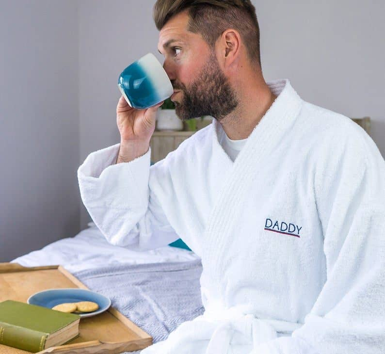 Personalised Mens Towelling Robe for dad