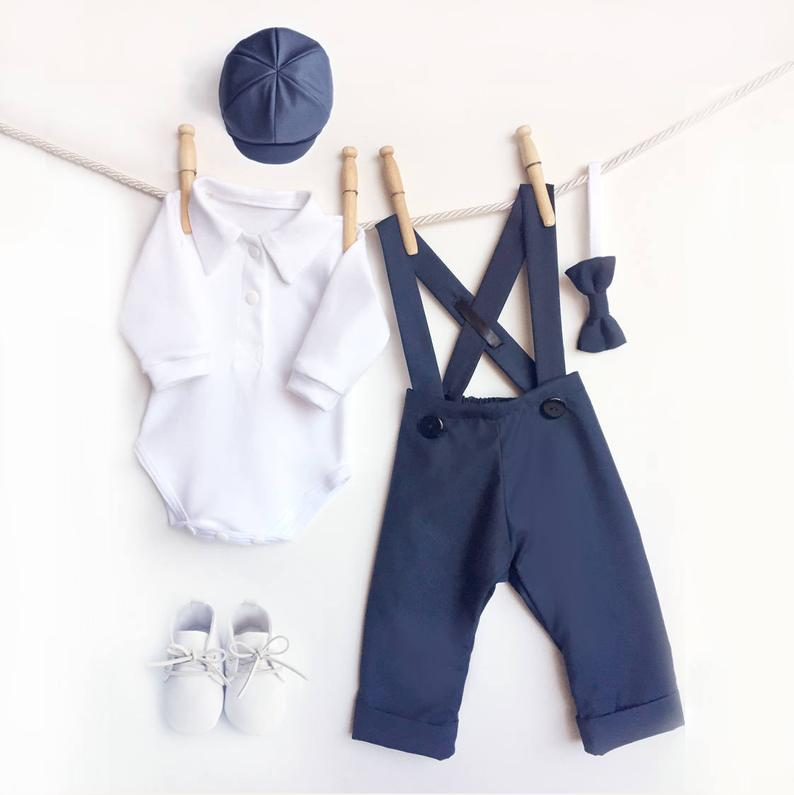 ring bearer gifts - navy outfits