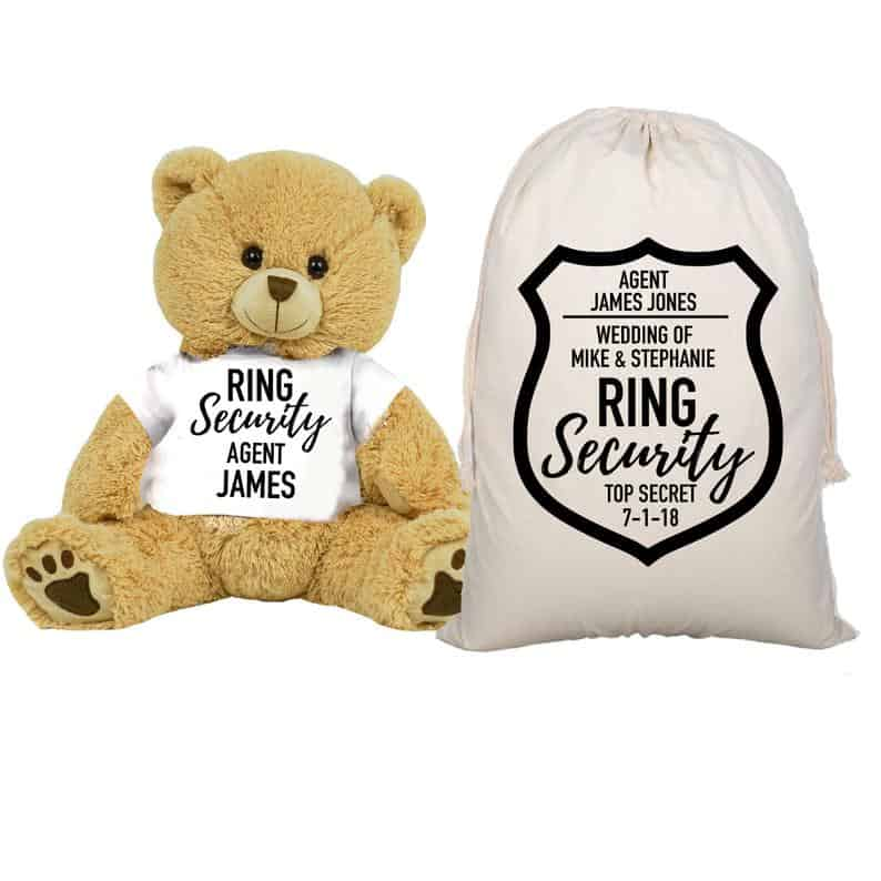 teddy gift bag - will you be my ring bearer gift