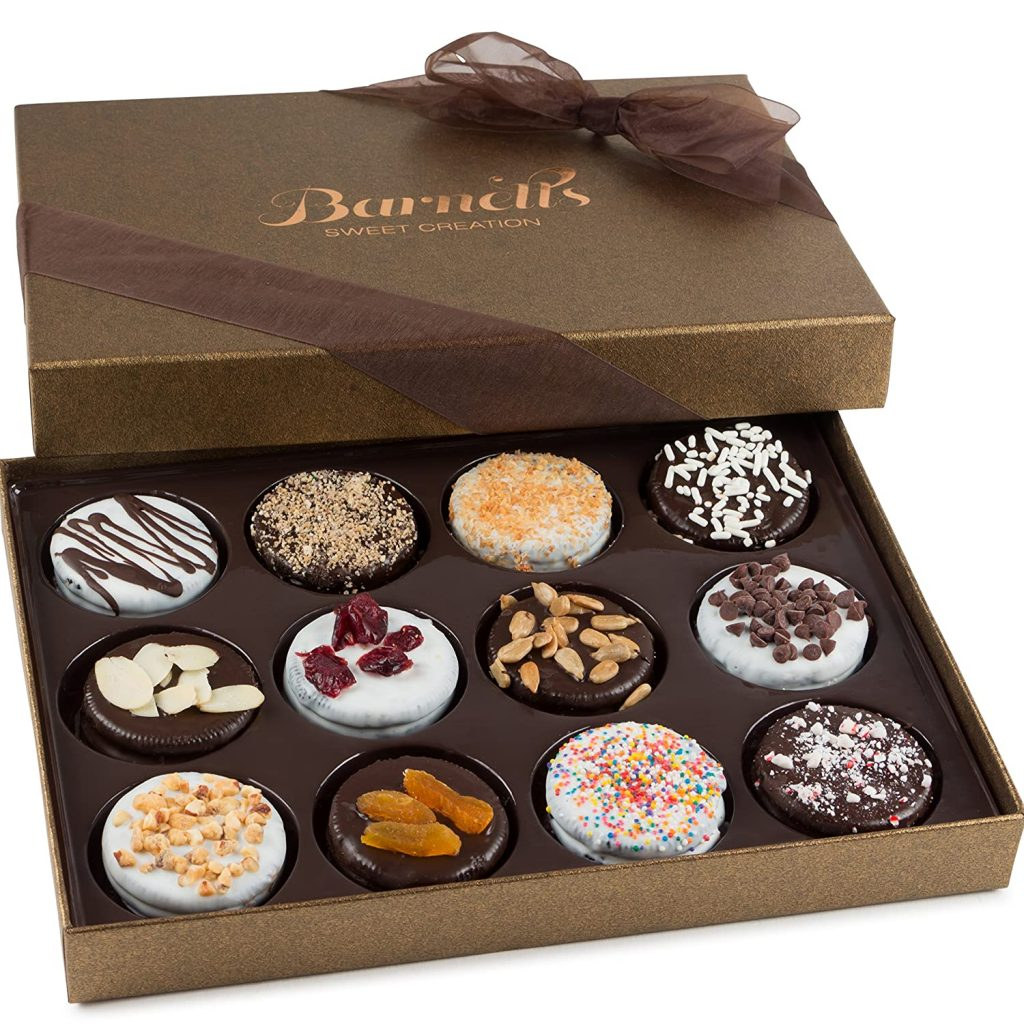 good engagement gifts:Barnett's Chocolate Cookies Gift Basket