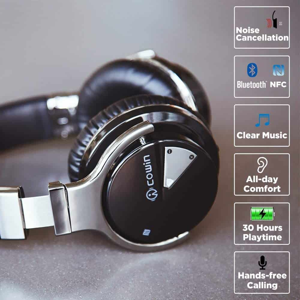 engagement gift for brother:COWIN E7 Active Noise Cancelling Headphones Bluetooth