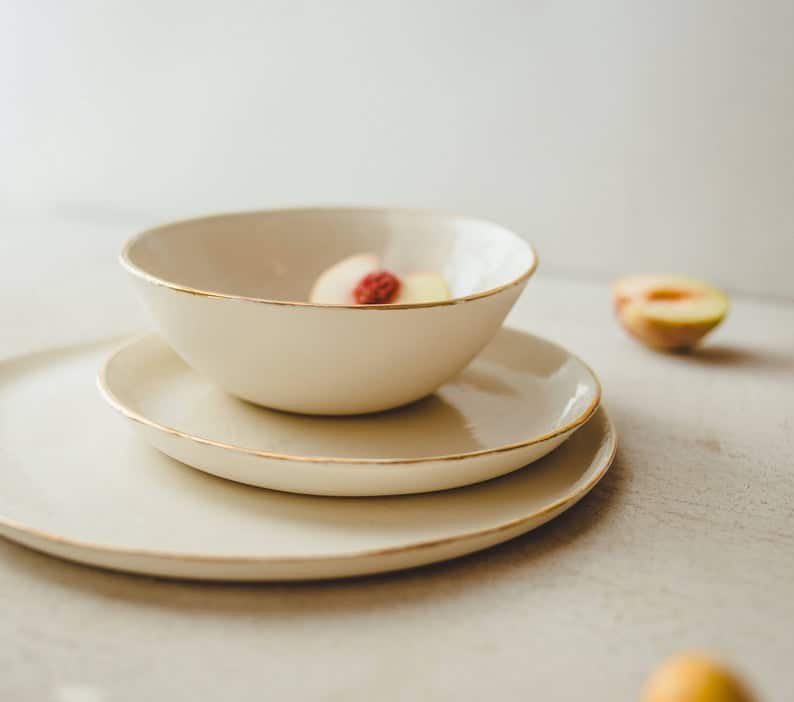 engagement party gift ideas:Ceramic Serving Set