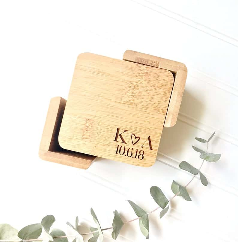 creative engagement gifts:Custom Coaster Set