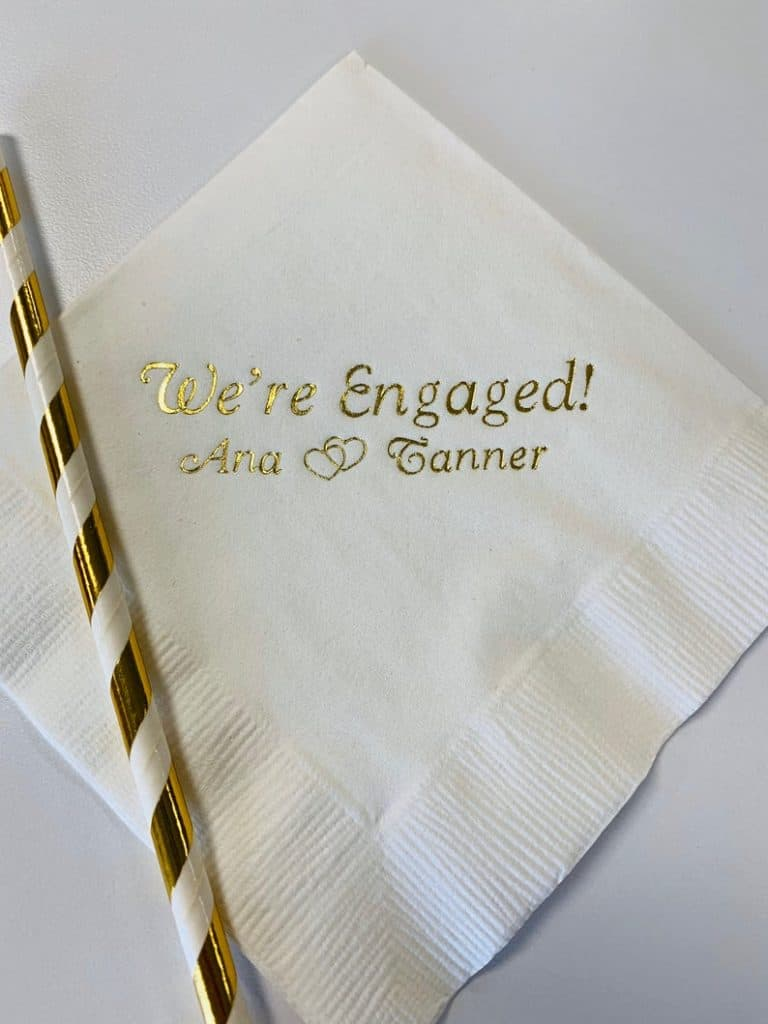 engagement presents: Custom Printed Napkins