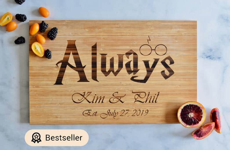 engagement gift:Engraved Cutting Board