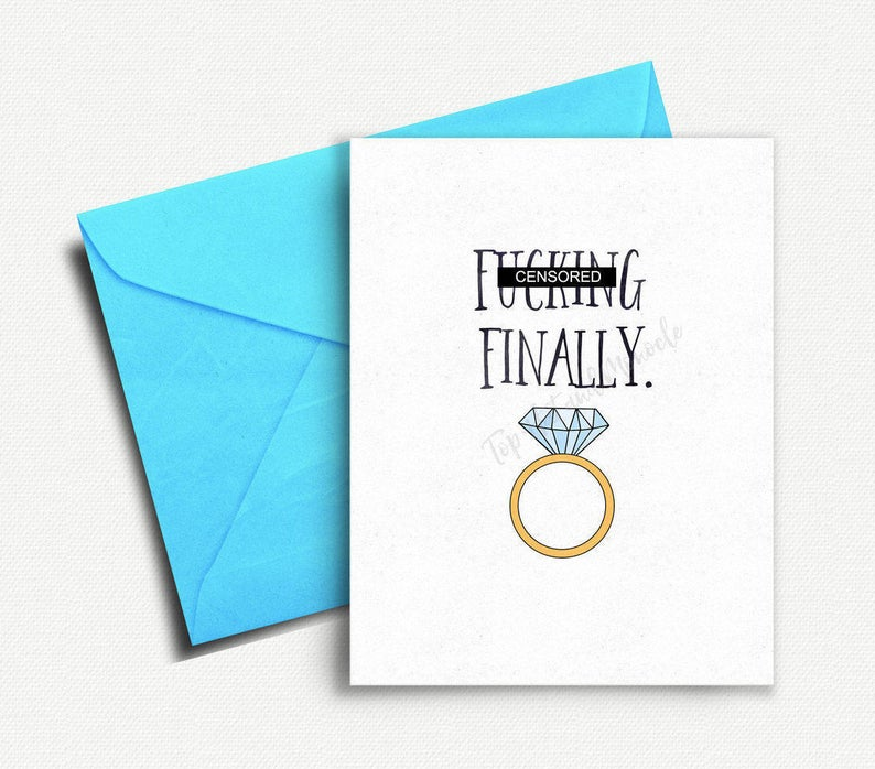 engagement party gifts for couples:Funny Wedding Card