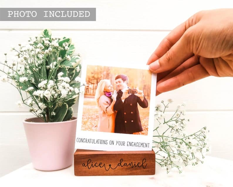 unique engagement gift ideas:Hidden Message Polaroid Photo Block