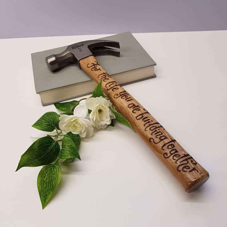 creative engagement gifts:Personalised Couple Hammer
