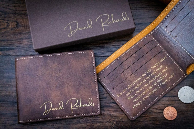 Personalized Wallet Men's