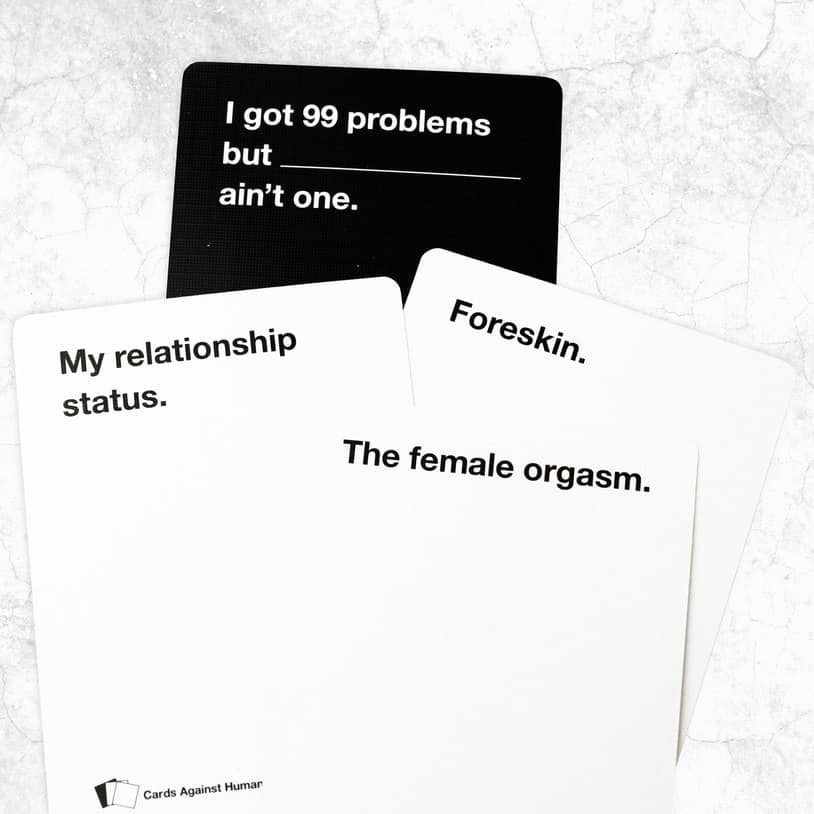 bachelor party games - card against humanities